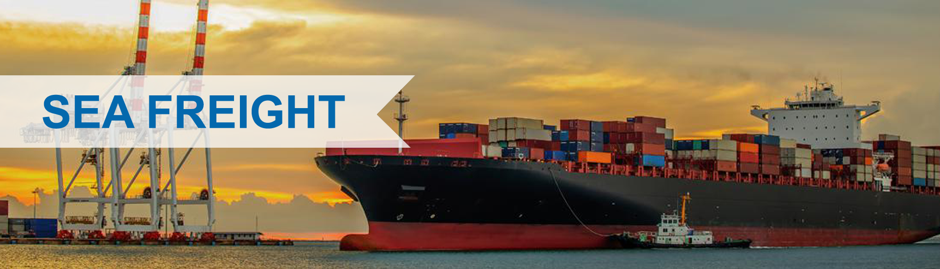 sea freight banner service in